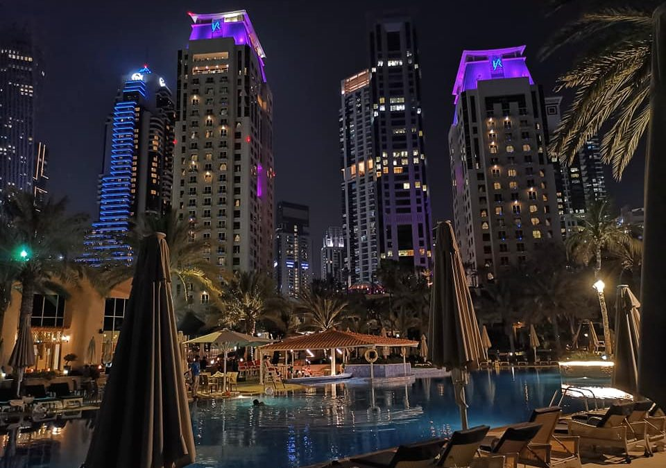 Sunday Evening at the Habtoor Grand Resort Dubai Marina