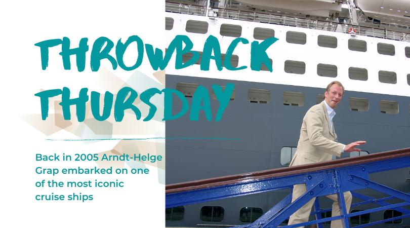 TBT: Arndt-Helge Grap embarking on a cruise ship